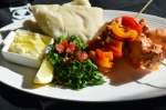 Pita bread with Lebanese Shish Tawook & garlic sauce